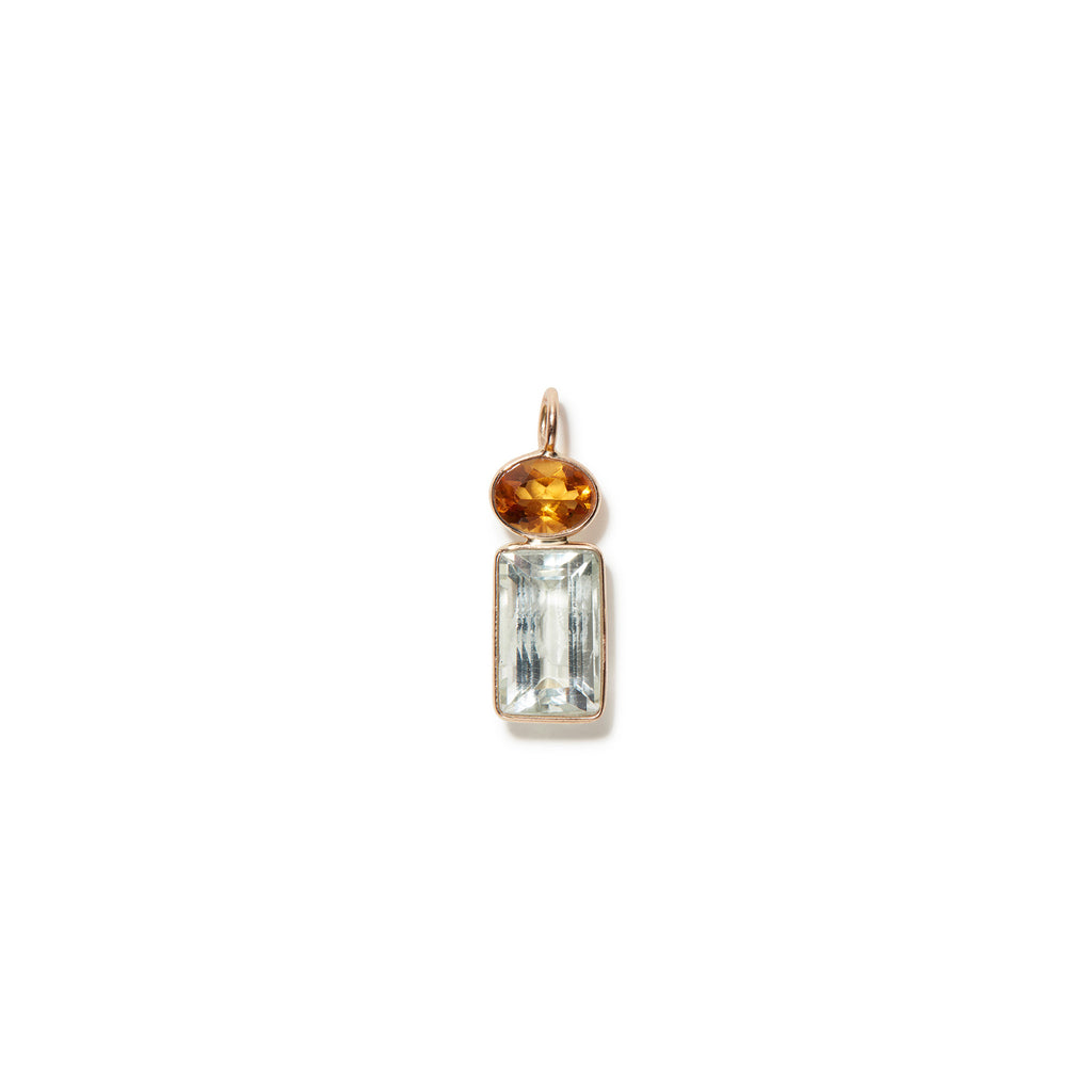 Green Amethyst 14k Necklace Charm