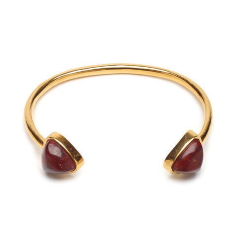 Inca Cuff In Red Jasper