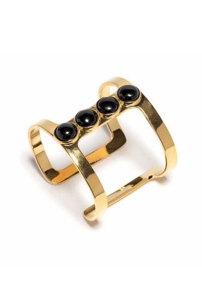 Pebble T-Bar Cuff In Onyx