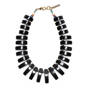 Black Tile Necklace