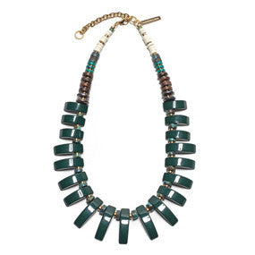 Dark Green Tile Necklace