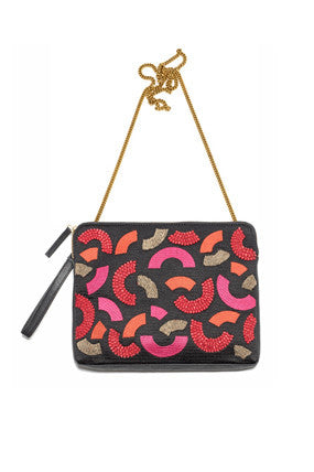 Safari Clutch In Magenta Macaroni