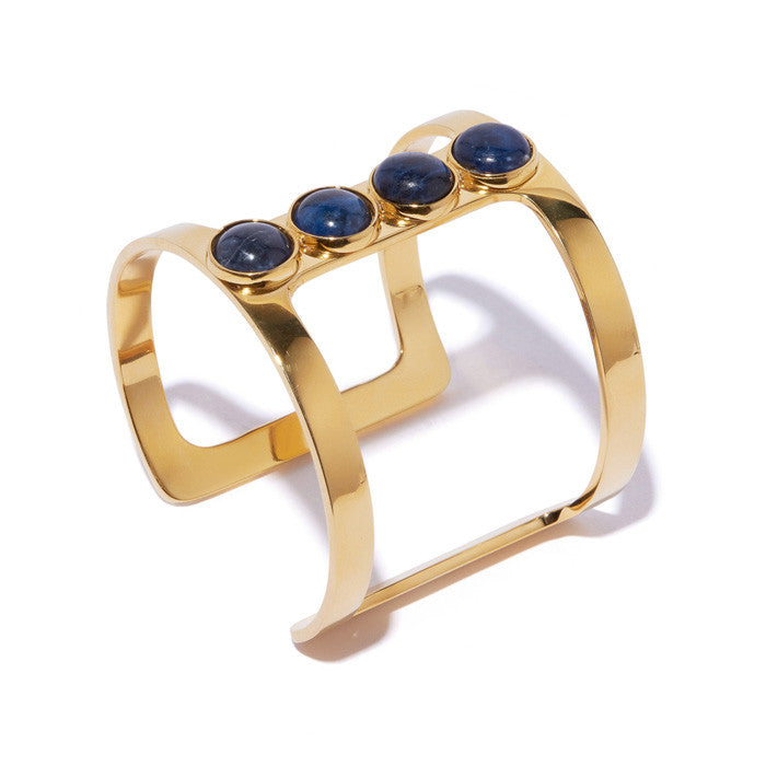 Pebble T-Bar Cuff In Sodalite