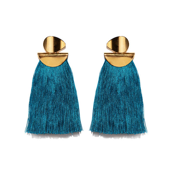 Teal Crater Earrings