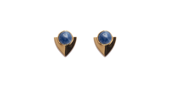 Pre-Columbian Earrings In Dark Blue