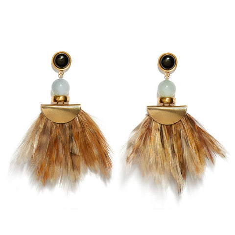 African Feather Earrings
