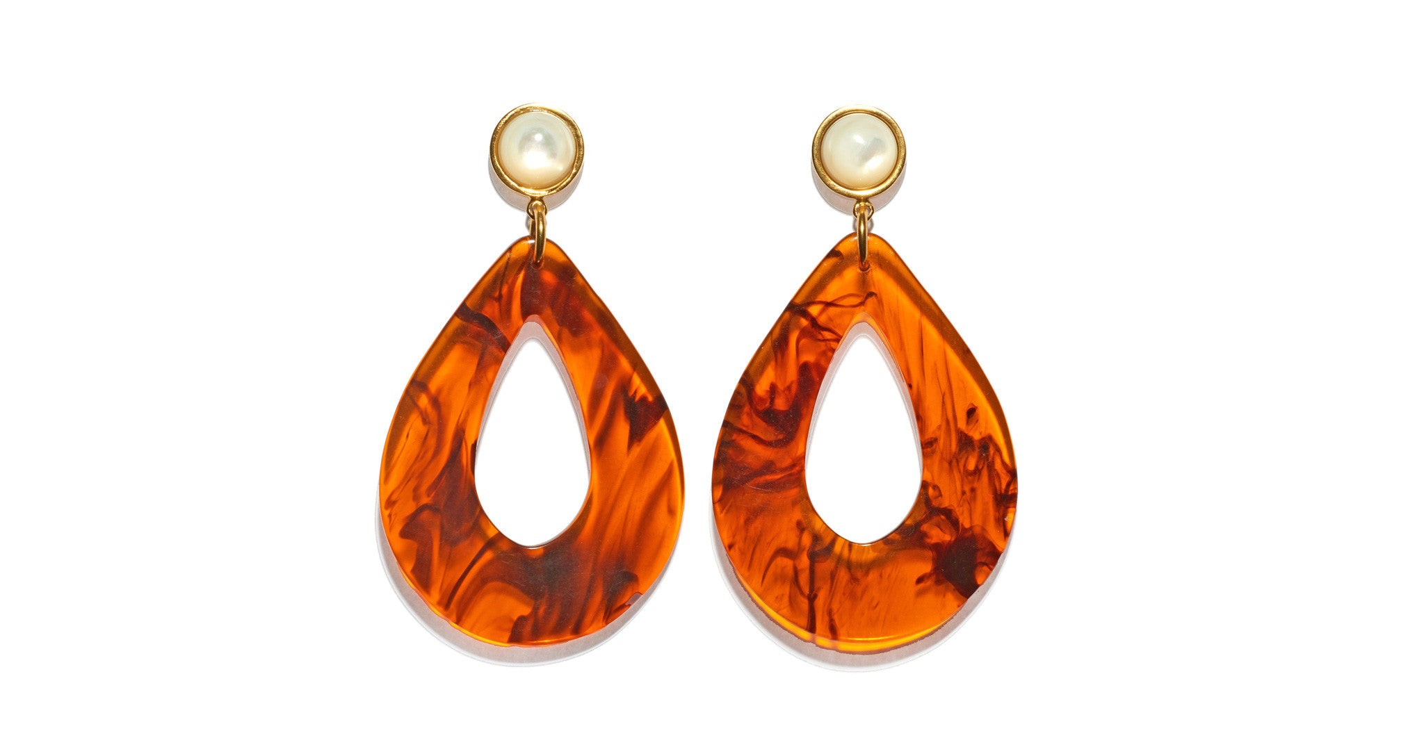 Tortoise Teardrop Earrings