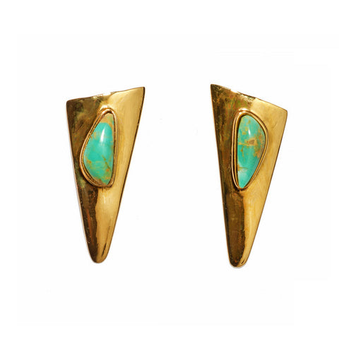 Tundra Earrings In Turquoise