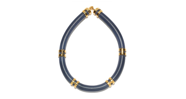 Double Take Necklace In Navy