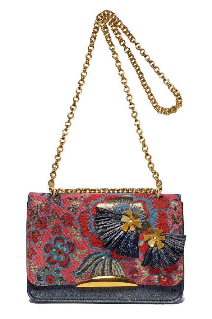 Beatrice Purse In Metallic Floral