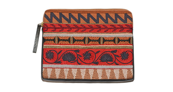 Safari Clutch In Kanga Stripe