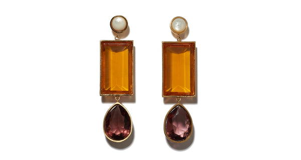 Amber Gem Earrings