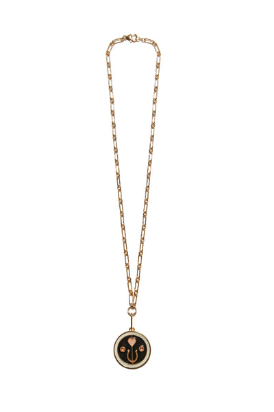Fortune Necklace In Black Luck