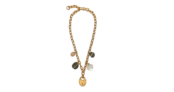 Heart Of Gold Single Strand Necklace