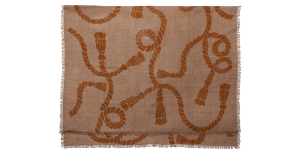 Large Tan Heritage Rope Scarf