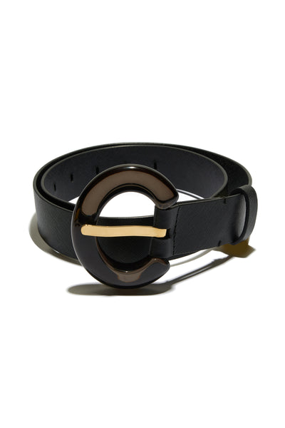 Sofia Belt In Black Lucite