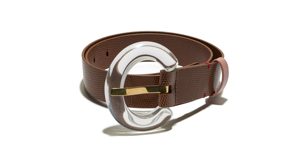 Sofia Belt In Clear Lucite