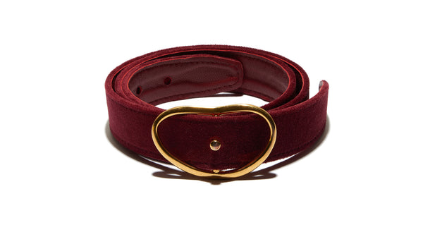 Wide Georgia Belt In Burgundy Velvet