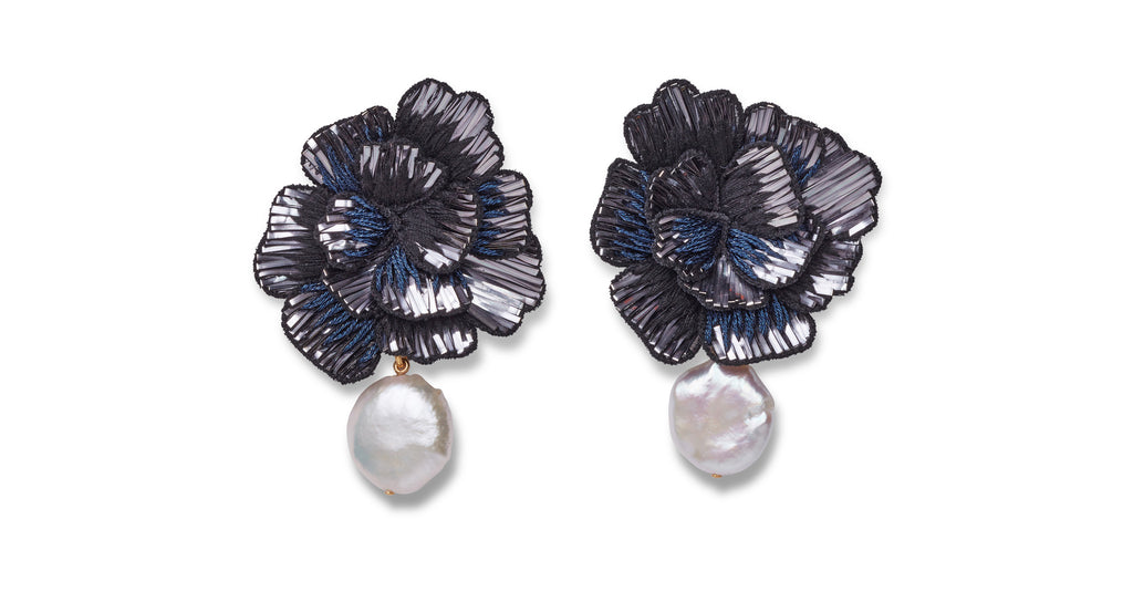 Full view of Cosmic Flower Earrings. Looking for the perfect earrings for a big night out? S...