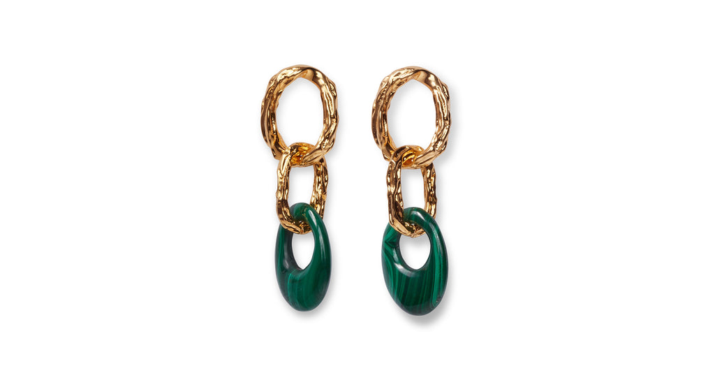 Full view of Evergreen Earrings.  We're giving the green light to these sophisticated tr...