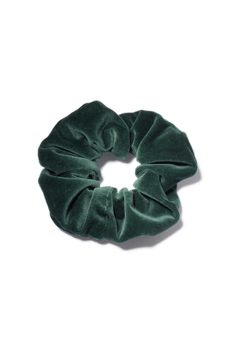 Velvet Scrunchie In Emerald