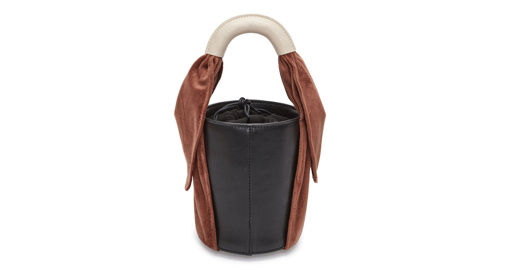 Full view of Florent Bag In Chestnut. Thumbnail of Louise Belt In Tortoise and Black. Poised...