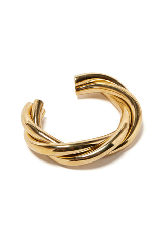 Triple Twist Cuff In Gold