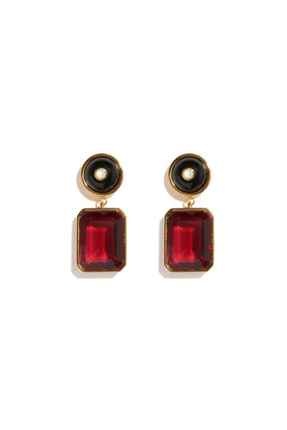 Ruby Tile Earrings