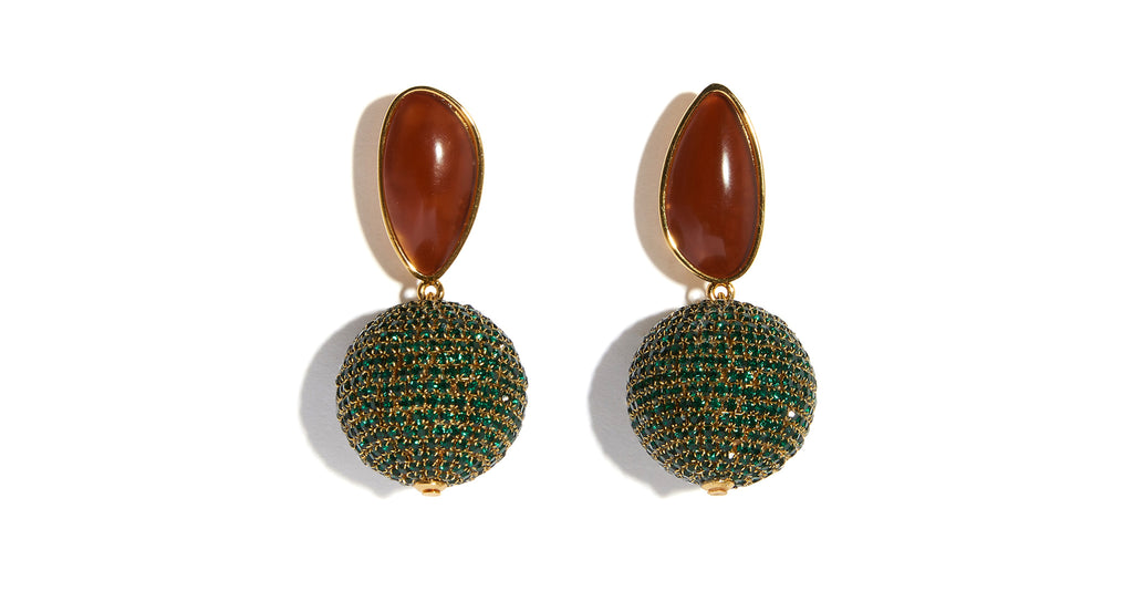 Full view of Bacchus Earrings. Calling all goddesses-in-the-making. Mirror ball playfulness ...