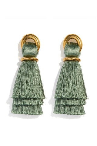 Vanderbilt Earrings in Sage