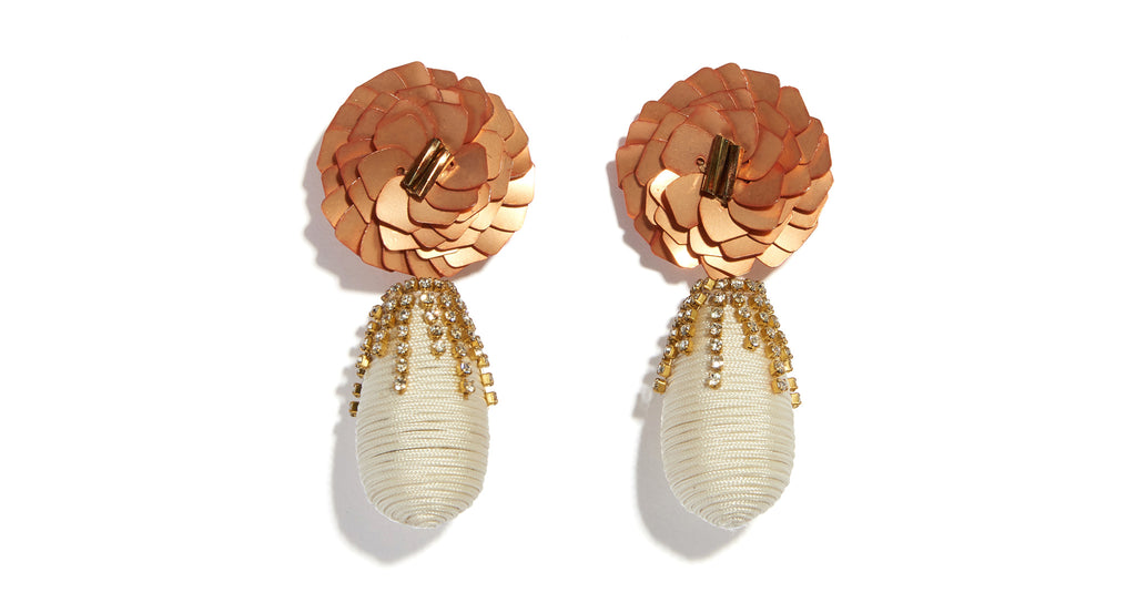 Full view of Le Pavilion Earrings. More, please. Gild the lily at your next soiree in these ...