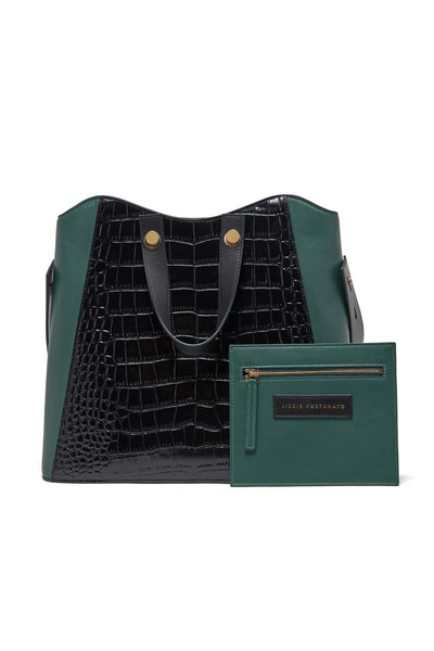 Thumbnail alt view of Friday Shopper Tote in Black Croc. It's Friday, I'm in love. Hold all ...