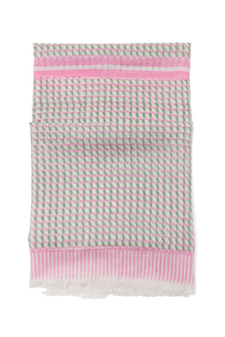 Heritage Scarf in Pink Tile