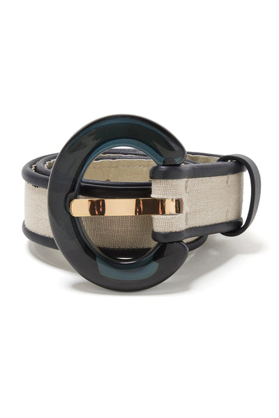 Thumbnail close-up of Sofia Belt In Oxford. Bold accessorizing is a true cinch. We love the ...