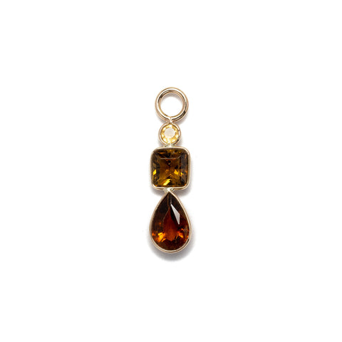 Citrine and Mixed Tourmaline 14k Earring Charm