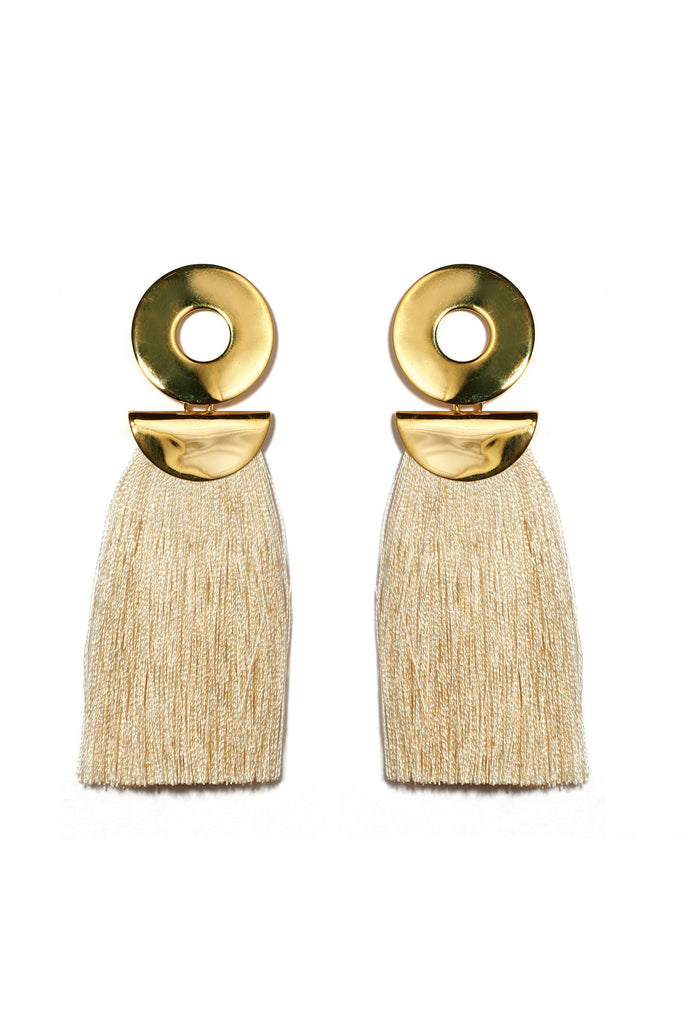 Go-Go Crater Earrings In Champagne