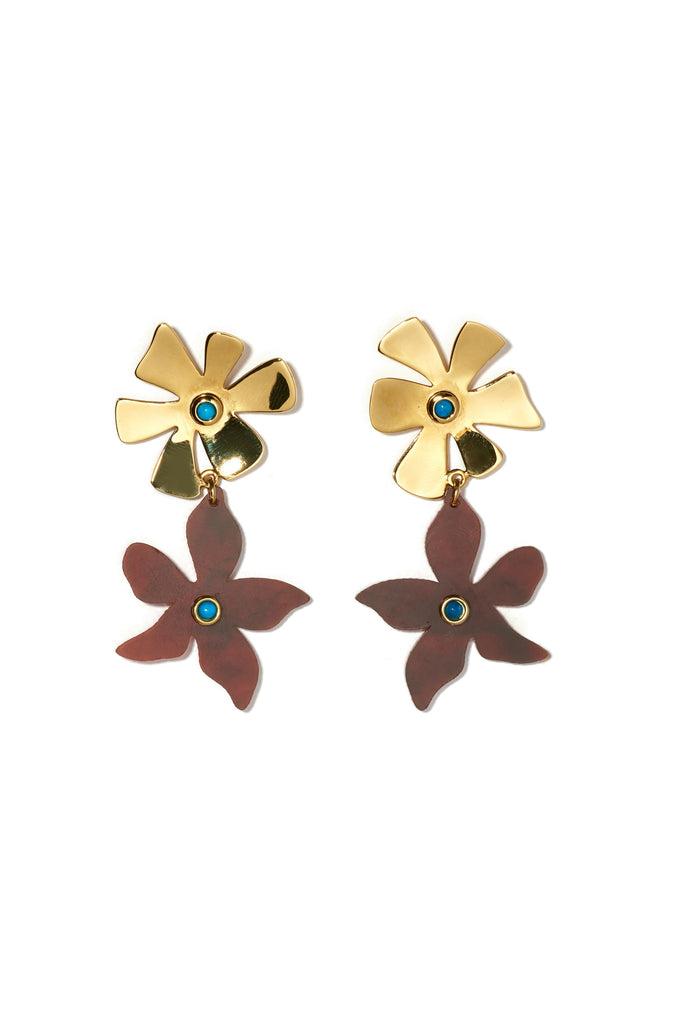 Dona Earrings In Tortoise