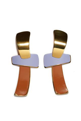 Ernesto Earrings In Lilac