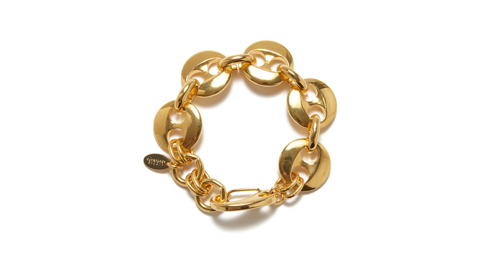 Full view of Elba Bracelet. Game, set, match. We love a classic, chunky tennis bracelet to s...