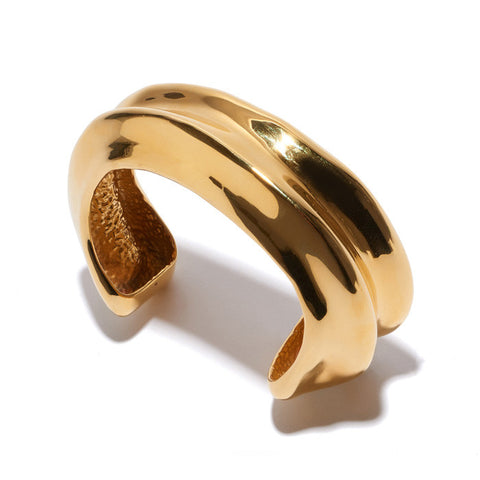 Sculptural Cuff In Gold