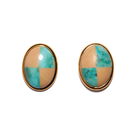 Ace Studs In Turquoise