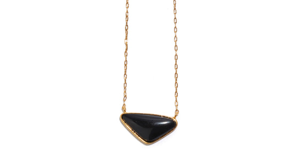 Kate Necklace In Black Agate