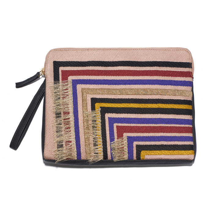 Safari Clutch In Stella Stripe