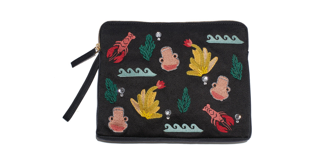 Safari Clutch In Maritime Icon