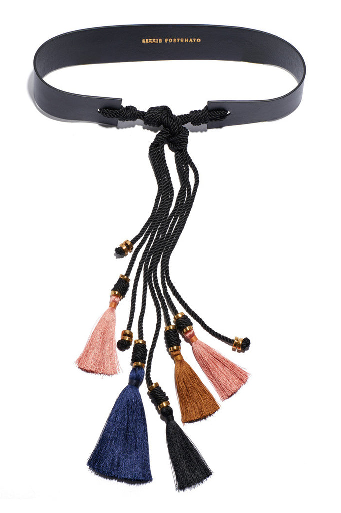 Hemingway Tassel Belt In Black