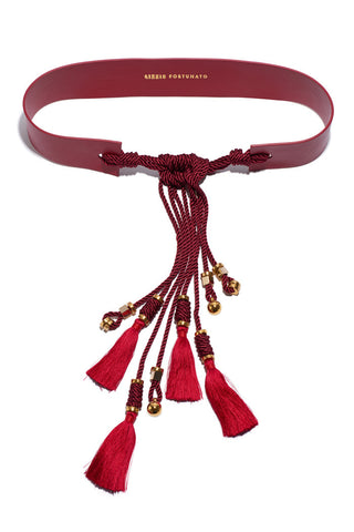 Hemingway Tassel Belt In Red
