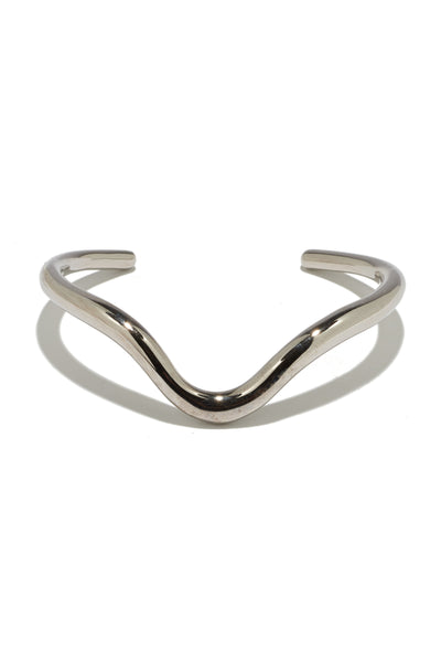 Delta Cuff In Rhodium