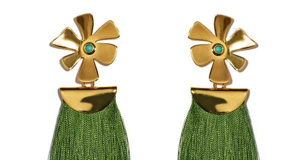 silver classic earrings gold centre products daisy prd stud sterling with mine
