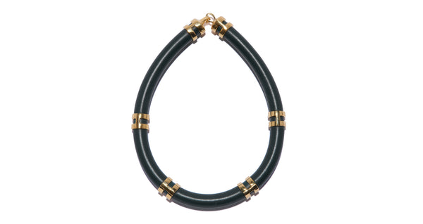 Double Take Necklace In Black