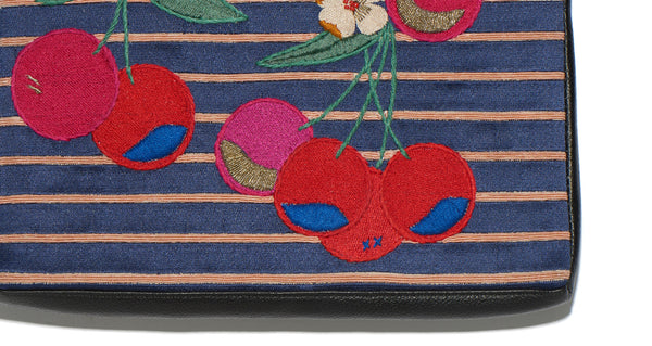 Safari Clutch In Bright Cherry